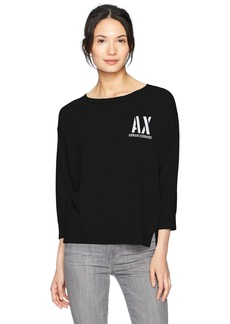 A|X Armani Exchange Women's Pullover Logo Sweater  XS