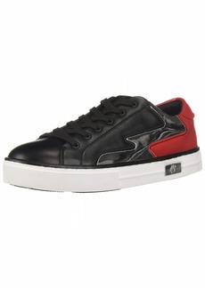 A|X Armani Exchange Women's Reflective Platform Sneaker Black/TANGORED/Silver 3M Medium EU ( US)