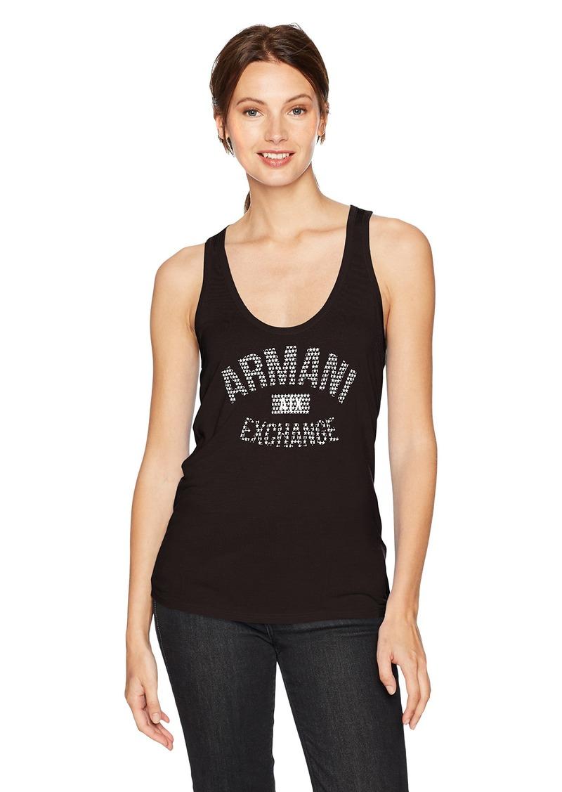 A|X Armani Exchange Women's Scoop Neck Logo Tank Top  M