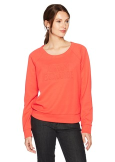 A|X Armani Exchange Women's Scoop Neck Long Sleeve Super Soft Sweatshirt  S