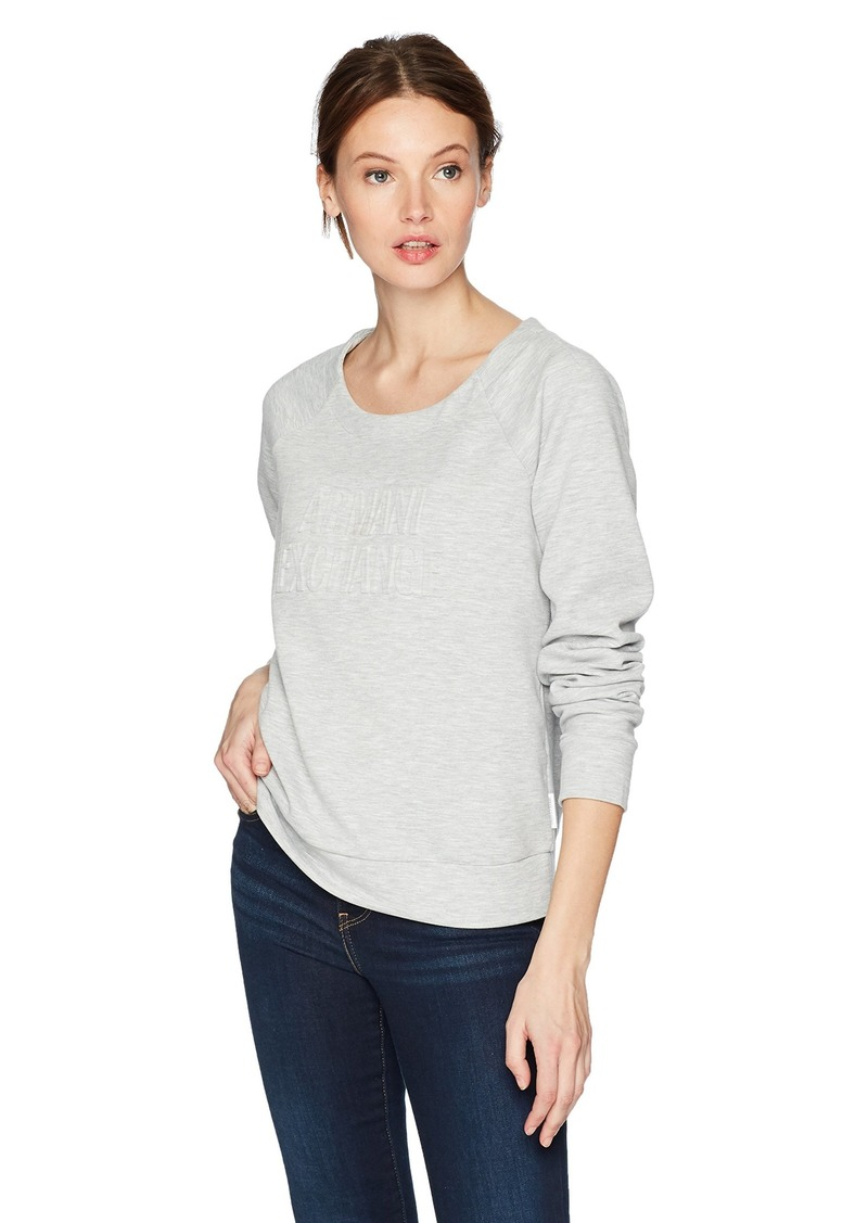 A|X Armani Exchange Women's Scoop Neck Long Sleeve Super Soft Sweatshirt  XS