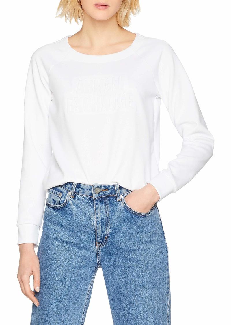 A|X Armani Exchange Women's Scoop Neck Pull Over Sweatshirt  XS