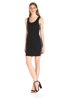 A|X Armani Exchange Women's Scoop Neck Sleeveless Above The Knee Bodycon Dress