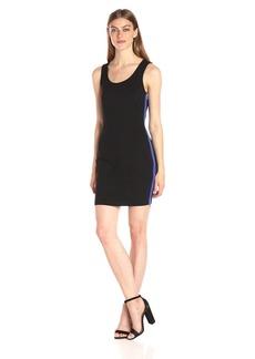 A|X Armani Exchange Women's Scoop Neck Sleeveless Above The Knee Bodycon Dress