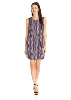 A|X Armani Exchange Women's Scoop Neck Sleeveless Printed Mini Dress