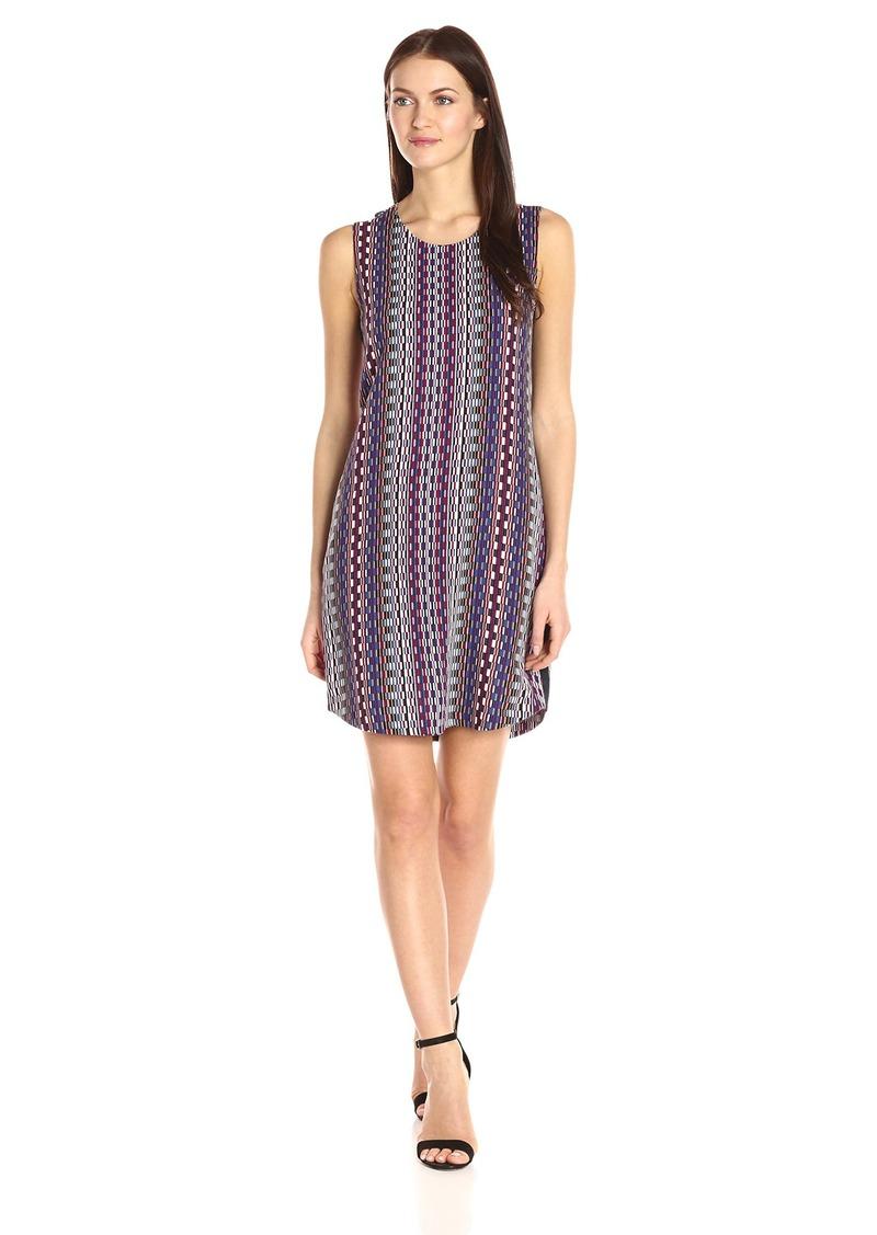 A|X Armani Exchange Women's Scoop Neck Sleeveless Printed Mini Dress
