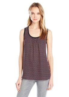 A|X Armani Exchange Women's Scoop Neck Sleeveless Tank Top