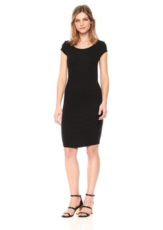 A|X Armani Exchange Women's Scoop Neck Slim Work Dress  L