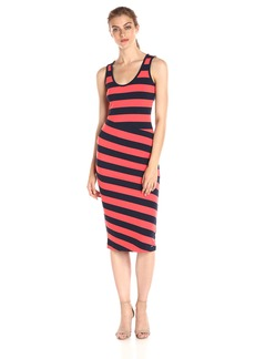 A|X Armani Exchange Women's Scoop Necksleeveless Midi Dress