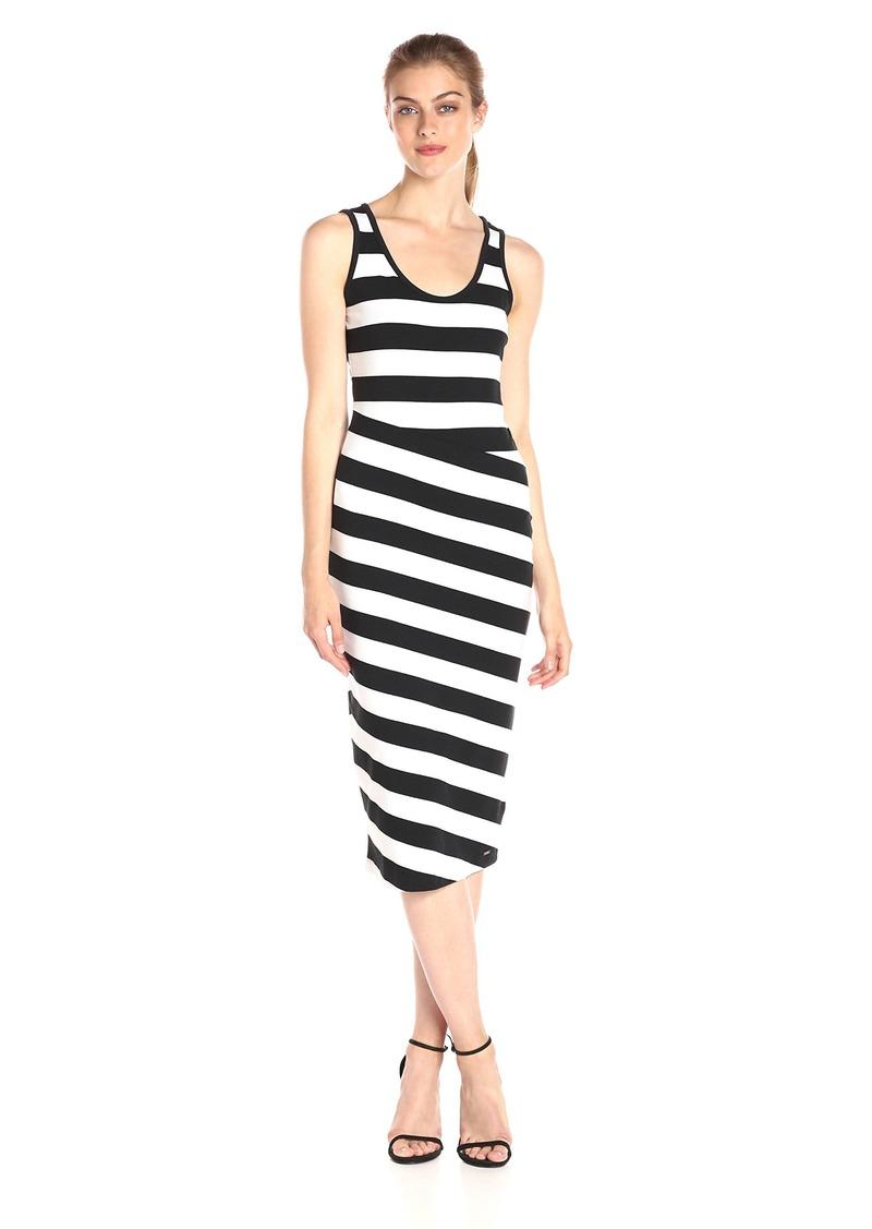 A|X Armani Exchange Women's Scoop Necksleeveless Midi Dress