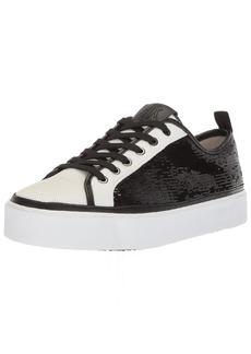 A|X Armani Exchange Women's Sequined Low Cut Sneaker   Medium US