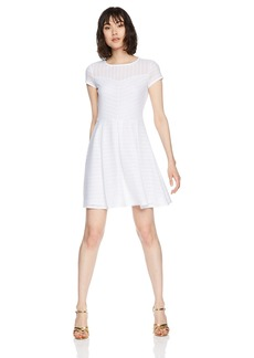 A|X Armani Exchange Women's Sheer Collar a-Line Dress  L