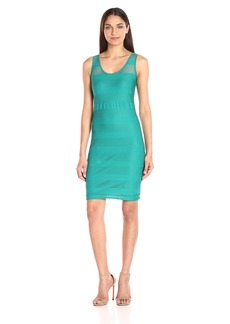 A|X Armani Exchange Women's Sheer Detail Sleeveless Dress