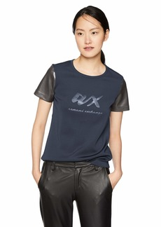 A X Armani Exchange Women's Short Sleeve AX Fashion Tee  XL