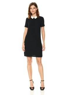 A|X Armani Exchange Women's Short Sleeve Collared Dress
