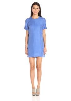 A|X Armani Exchange Women's Short Sleeve Double Layer Dress