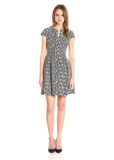 A|X Armani Exchange Women's Short Sleeve Fit and Flare Dress