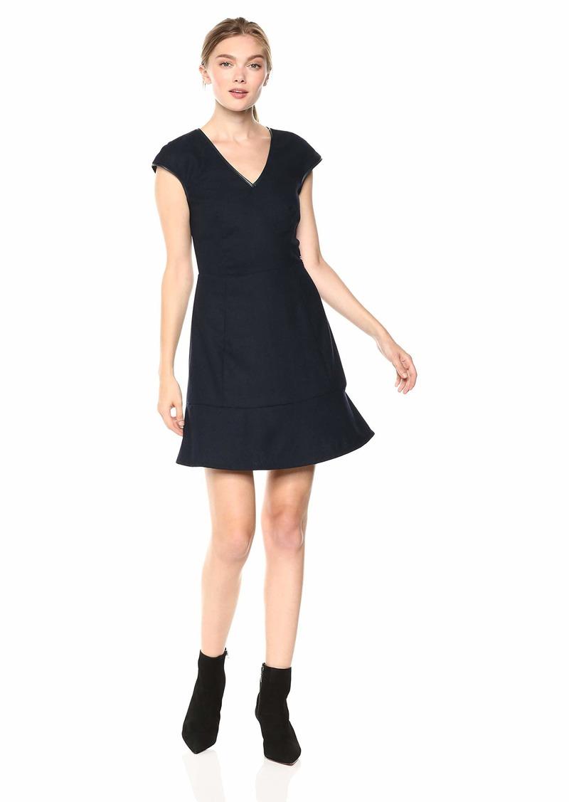 A|X Armani Exchange Women's Short Sleeve Flare Dress