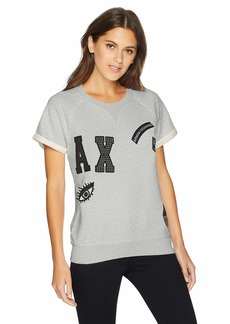 A|X Armani Exchange Women's Short Sleeve Patched Sweatshirt  S