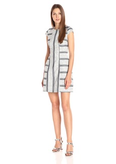 A|X Armani Exchange Women's Short Sleeve Patterned Dress
