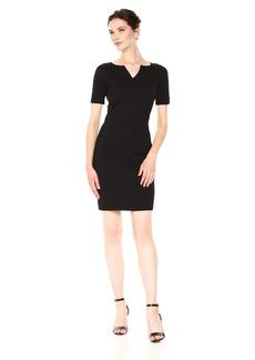 A|X Armani Exchange Women's Short Sleeve V Cut Neck Bodycon Dress  XS