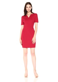 A|X Armani Exchange Women's Short Sleeve V Cut Neck Bodycon Dress  XS