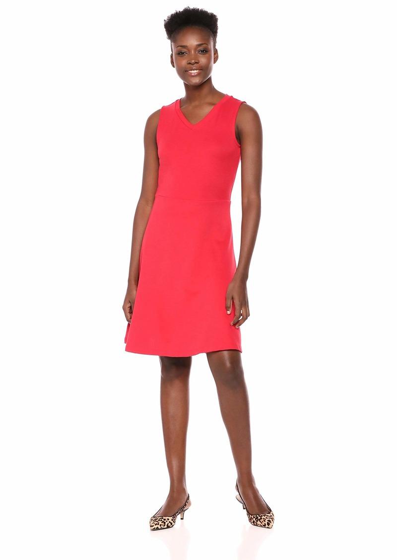 A|X Armani Exchange Women's Simple Skater Skirt V Neck Tank Dress  XL