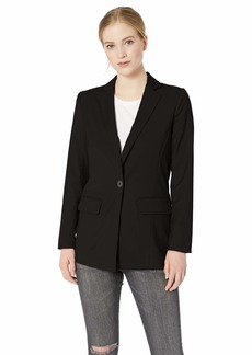 A|X Armani Exchange Women's Simple Structured Blazer