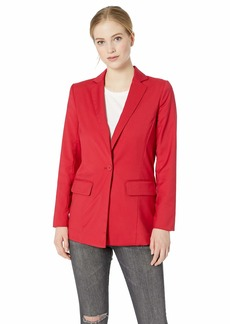 A|X Armani Exchange Women's Simple Structured Blazer red Shoes