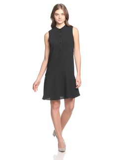 A|X Armani Exchange Women's Sleeveless Button Down Dress