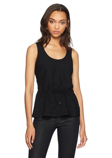 A|X Armani Exchange Women's Sleeveless Colorblock Peplum Top  XS