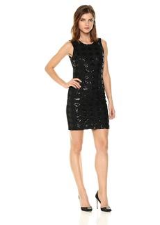 A|X Armani Exchange Women's Sleeveless Diamond Sequin Dress  L