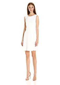 A|X Armani Exchange Women's  Sleeveless 'Faux Belt Dress
