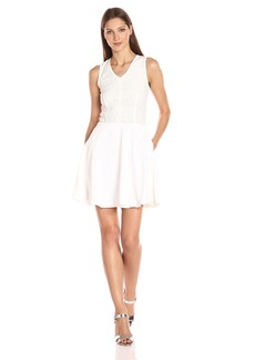 A|X Armani Exchange Women's Sleeveless Fit and Flare Crew Neck Dress