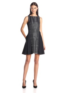 A X Armani Exchange Women's Sleeveless Fit and Flare Dress