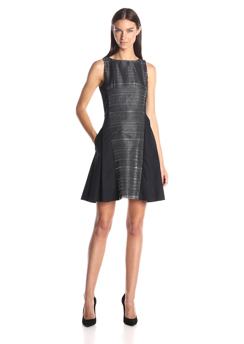 A|X Armani Exchange Women's Sleeveless Fit and Flare Dress