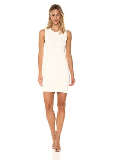 A|X Armani Exchange Women's Sleeveless Fringe Dress