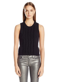 A|X Armani Exchange Women's Sleeveless Fringe Top