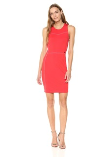 A|X Armani Exchange Women's Sleeveless Work Dress with Piping  L
