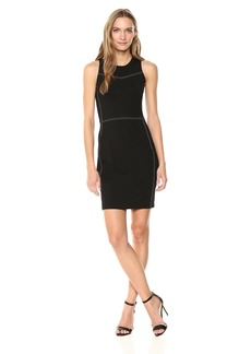 A|X Armani Exchange Women's Sleeveless Work Dress with Piping  M