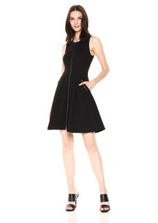 A|X Armani Exchange Women's Sleeveless Zip up a-Line Dress  L