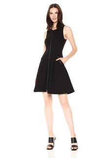 A|X Armani Exchange Women's Sleeveless Zip up a-Line Dress  XL
