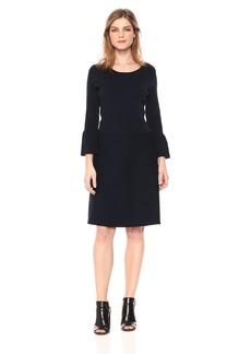 A|X Armani Exchange Women's Slight Peplum Work Dress  XL