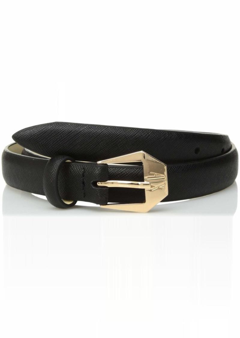 A|X Armani Exchange Women's Slim crossweave Belt  L