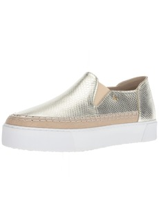 A|X Armani Exchange Women's Snakeskin Textured Slip On Platform Sneaker   Medium US