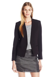A|X Armani Exchange Women's Solid Clean Cropped Blazer