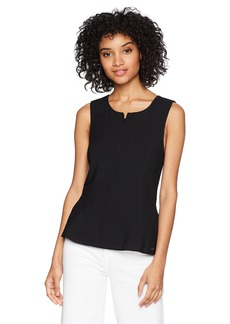 A|X Armani Exchange Women's Solid Peplum Tank  S