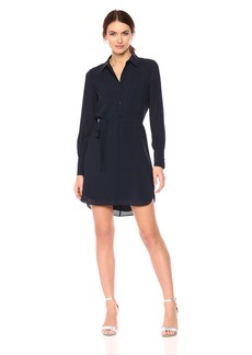 A|X Armani Exchange Women's Solid Shirt Dress with Tie