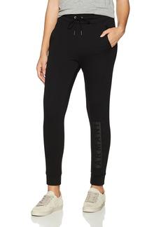 A X Armani Exchange Women's Solid Sweatpants with Logo On Leg  XL