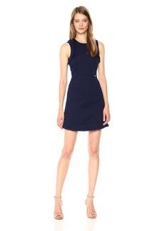 A|X Armani Exchange Women's Stretch Cotton Dobby Dress